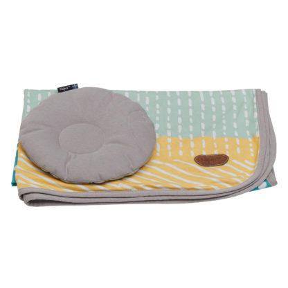 Pillow and blanket set neat